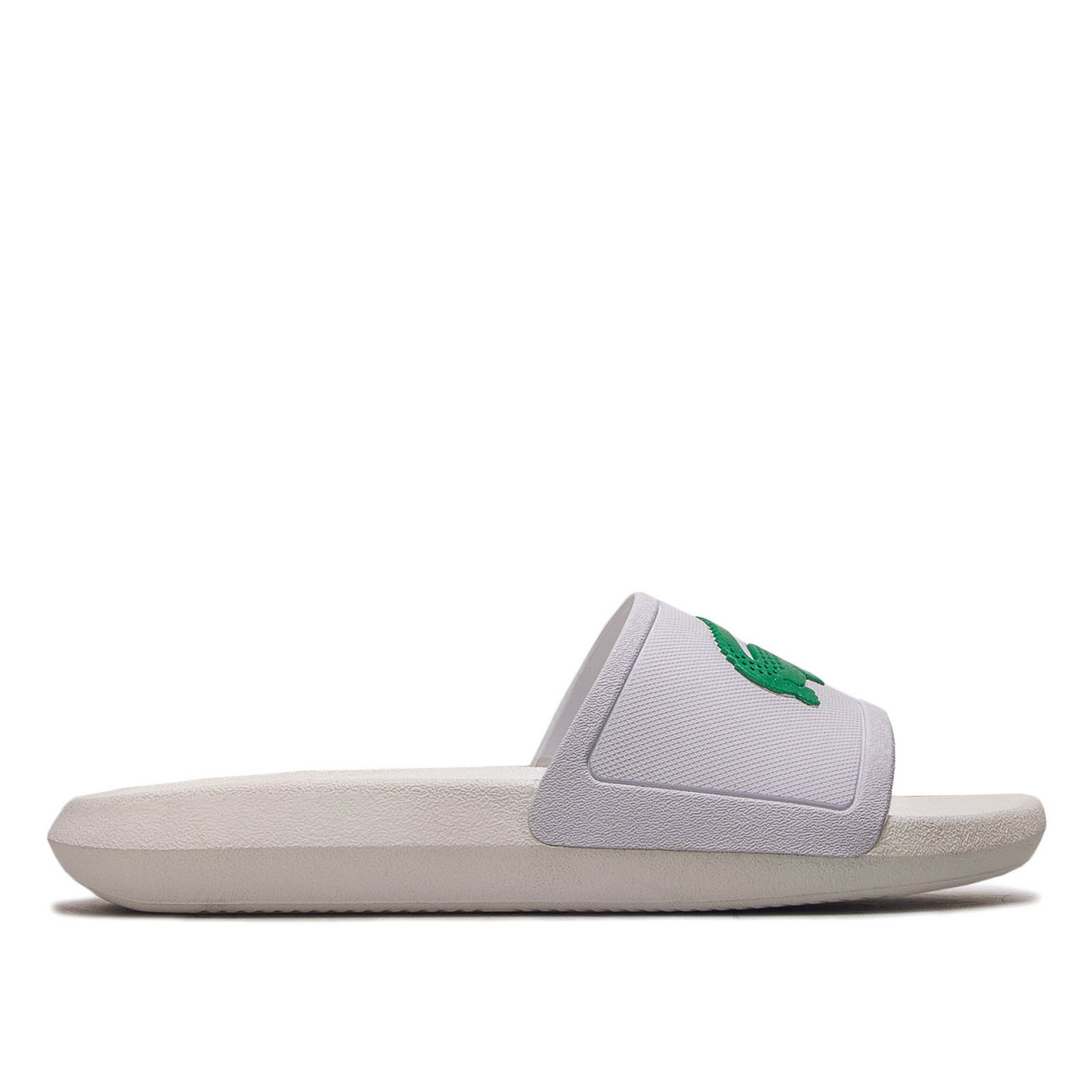 Damen Slide Croco White Green