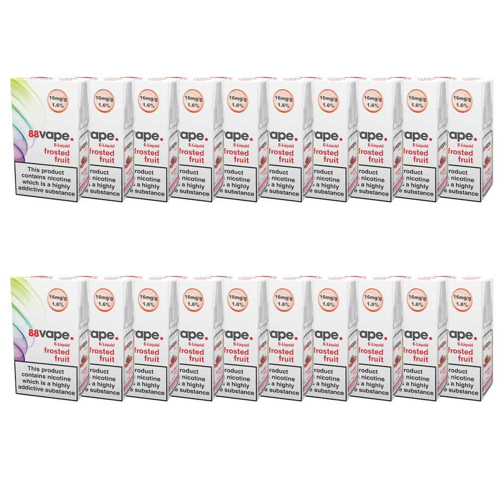 88Vape E-Liquid Frosted Fruits 10ml - 16mg Nicotine - Extra Value 20 Pack
