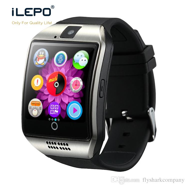 Fashion Android Watch Phone Q18 Smart Watches With SIM Card Slot Bluetooth Camera NFC Function Smartwatch For Apple Goophone Phones Xiaomi