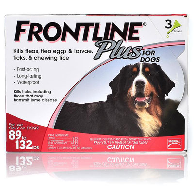 Frontline Plus For Extra Large Dogs Over 89 Lbs (Red) 12 Doses