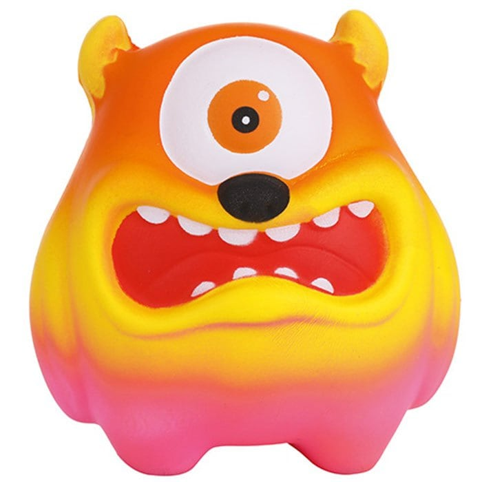Slow Rebound Cartoon Big Mouth Monster PU Slow Rebound One-eyed Big Mouth Monste