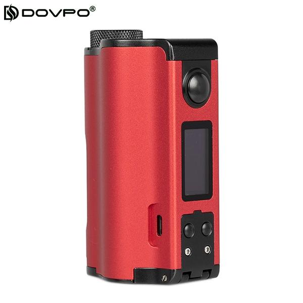 Authentic Dovpo Topside Dual 200W Top Fill TC VW Squonk Box Mod APV - Red