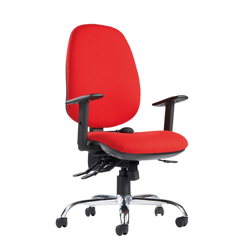 Jota Ergo 24hr Ergonomic Chair- Red