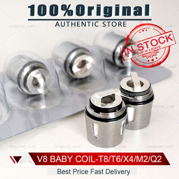100% Original V8 Baby Coil Head Replacment T8 X4 T6 Q2 M2 Beast Coil Engine Core for H PRIV Mini 50w Kits