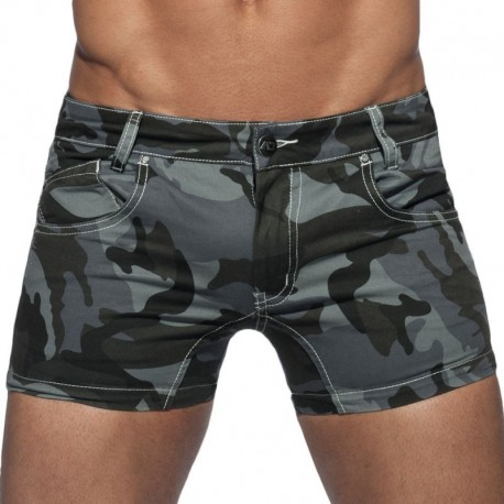Addicted Camouflage Twill Short - Grey 32