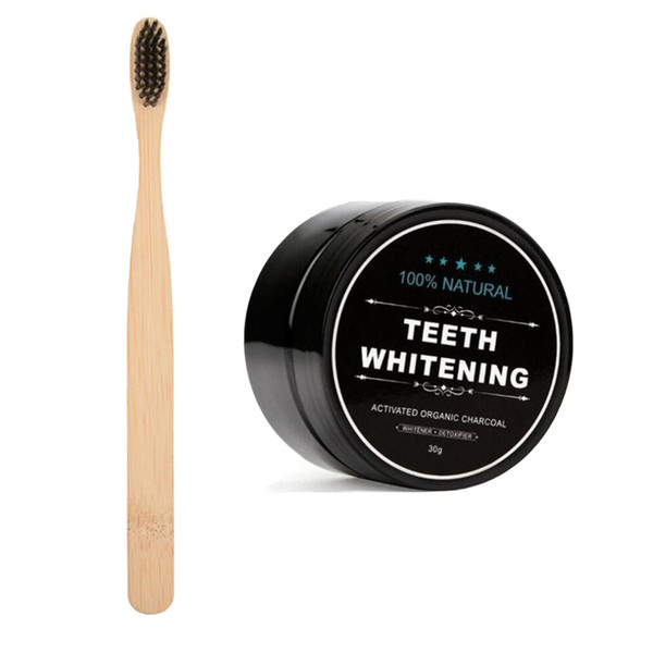 EPACK Teeth Whitening Powder With Toothbrush Bamboo Activated Charcoal Smile Powder Decontamination Tooth Yellow Stain Bamboo