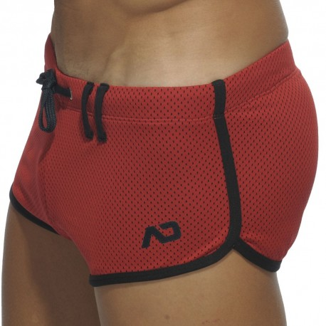 Addicted Loop Mesh Short - Red S