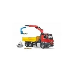 BRUDER MB Arocs Construction truck with accessories - 54,5 cm - 18,5 cm - 27 cm - Rot - Gelb (BAUSTELLEN LKW)