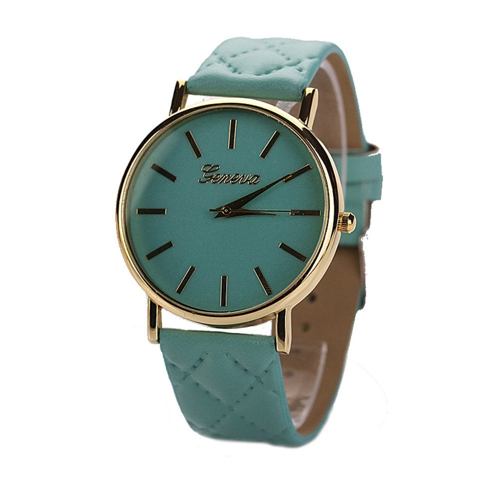 Geneva XR781 Women Men Analog Quartz Leather Wrist Watch