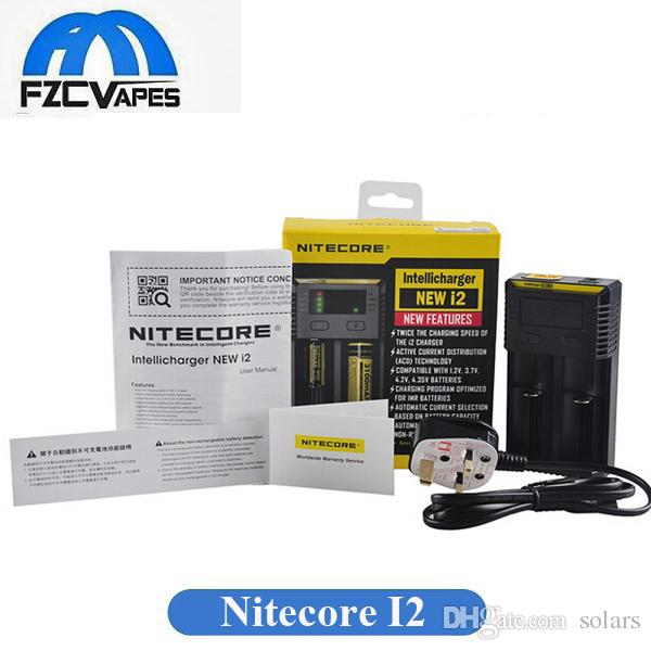 Authentic Nitecore I2 Charger New Version 1000mA 18650 18350 14500 Battery Dual Bay Charger wtih New Features DHL Free