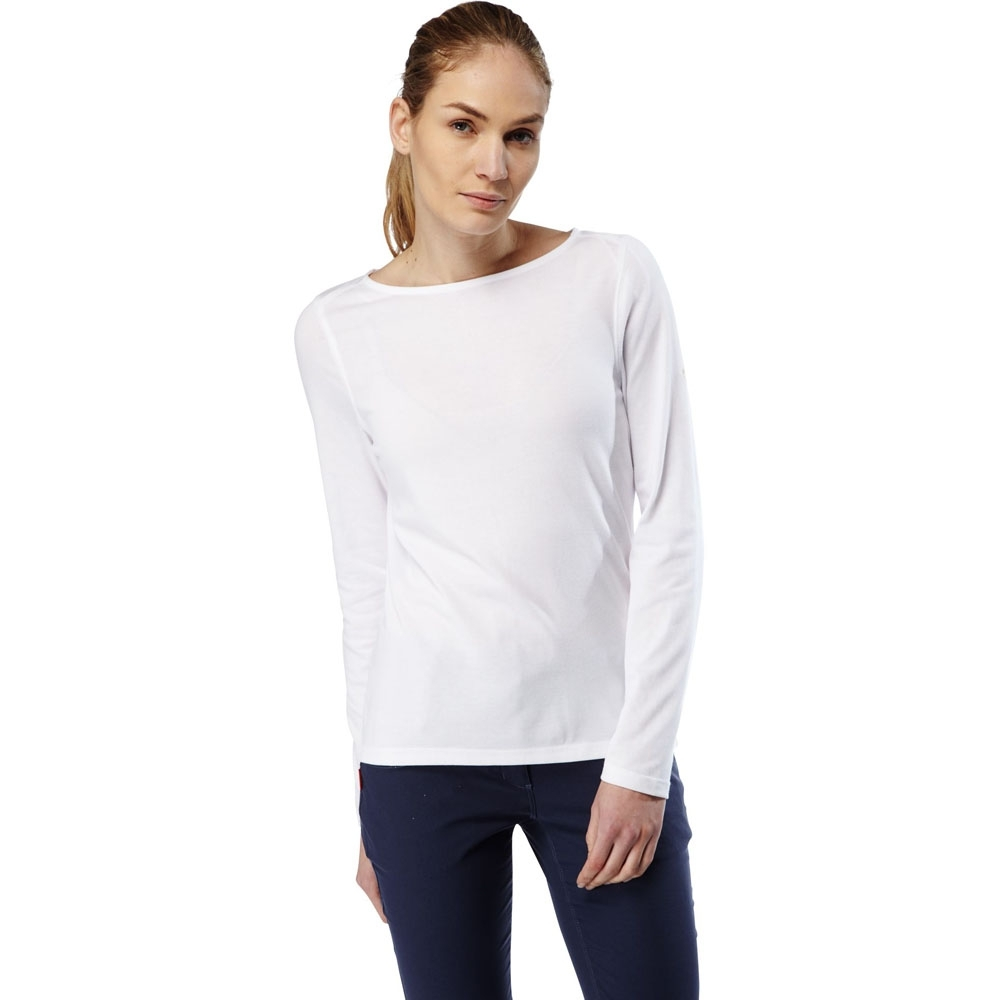 Craghoppers Womens/Ladies NosiLife Erin Long Sleeve Boat Neck Top 14 - Bust 38' (97cm)