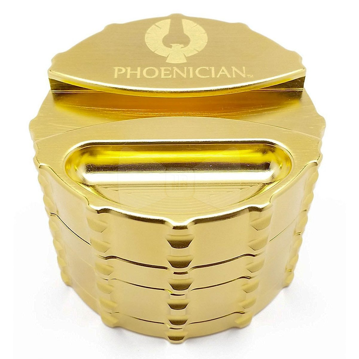 Phoenician Elite 24k Gold Large 4 Piece Grinder With Paper Holder