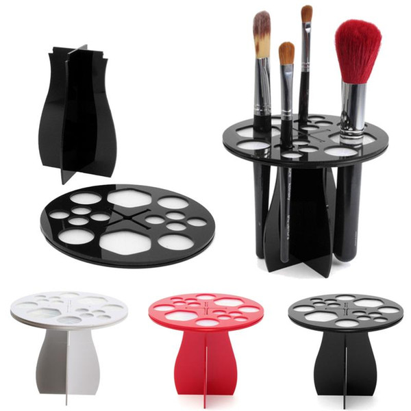 1pcs useful acrylic cosmetic dryer makeup brushes holder stand cosmetic dryer holder puff eye shadow pen storage