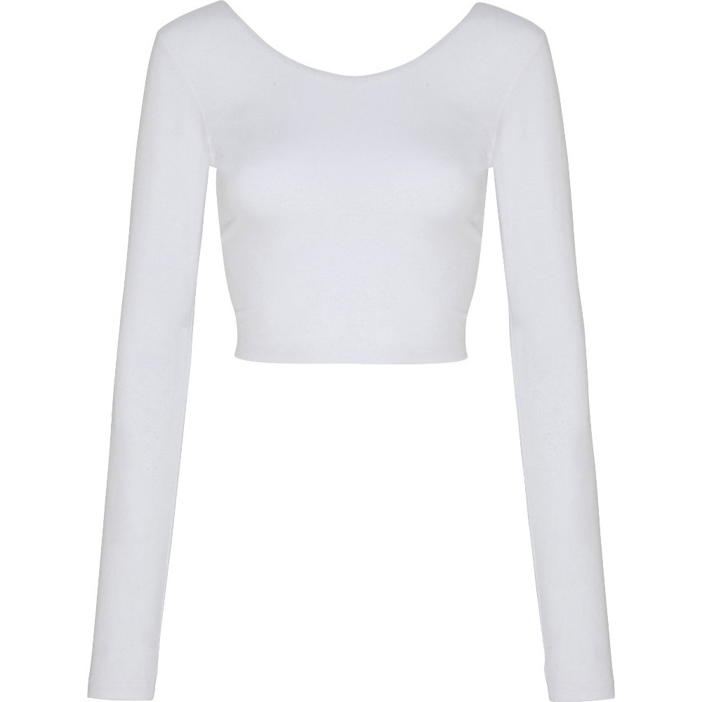 American Apparel Womens/Ladies Long Sleeve Cotton Spandex Crop Top XS - Chest 28-30' (71.1-76.2cm)
