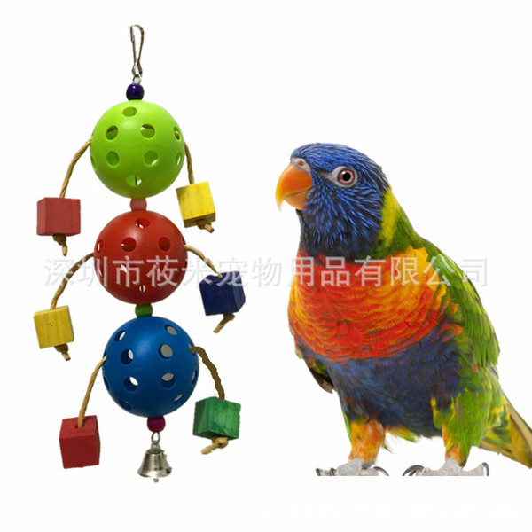 in large parrot articles plastic ball gnawing toys paw the ball toys foreign trade 110g