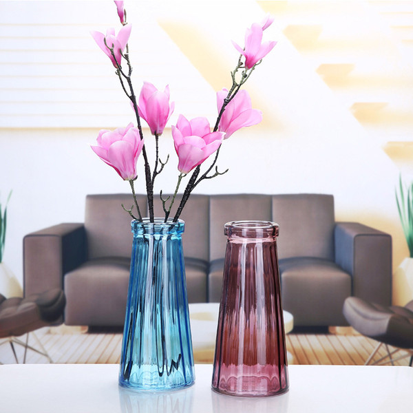 multi color glass vases creative nordic style flower vase handmade dried flower vases european decorative vase