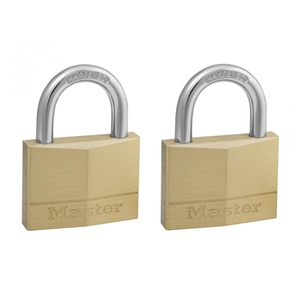 Masterlock Solid Brass 50mm Padlock  5 Pin - Keyed Alike x 2