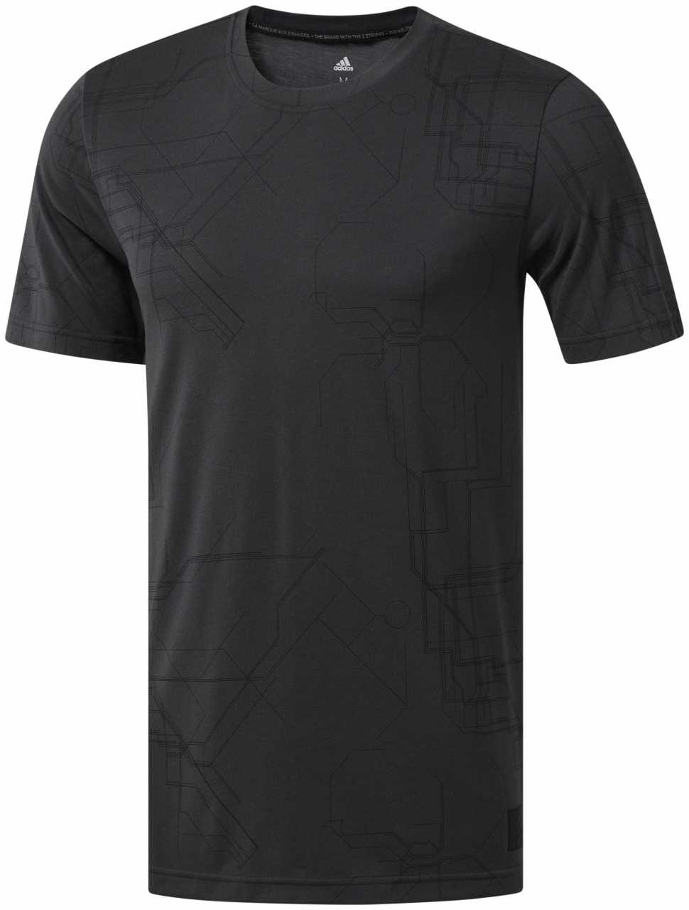 Adidas Adicross Allover Graphic T-shirt Herren schwarz