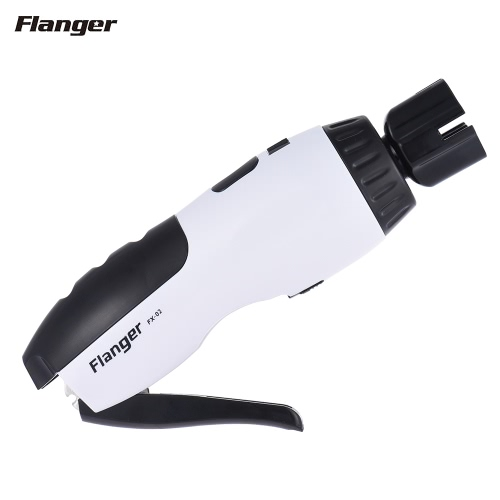 Flanger FX-02 3-in-1 Multifunctional Restringing Tool Motorized String Winder Strings Cutter Bridge Pin Remover Built-in Rechargeable Battery with USB Charge Cable for Banjo Guitar Bass Mandolin Ukelele