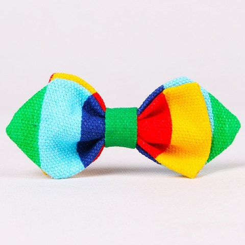Stylish Colorful Stripe Pattern Double-Deck Bow Tie For Kids