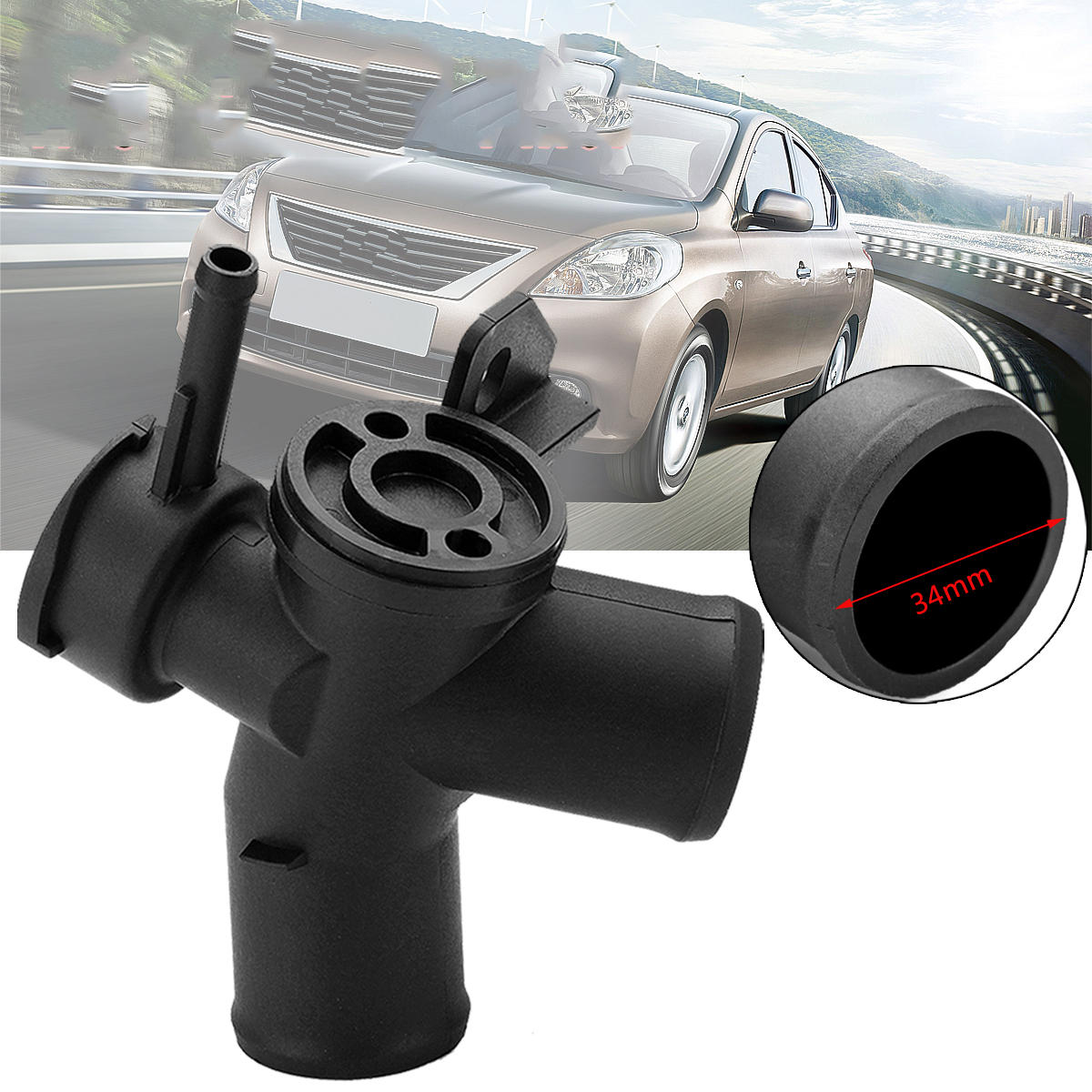Auto Car Upper Radiator Filler Hose Neck For Nissan Altima 07-08-09-10-11-12 2.5L L4