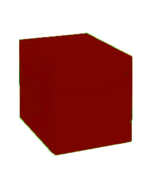 2 Drawer Red Under Desk Pedestal