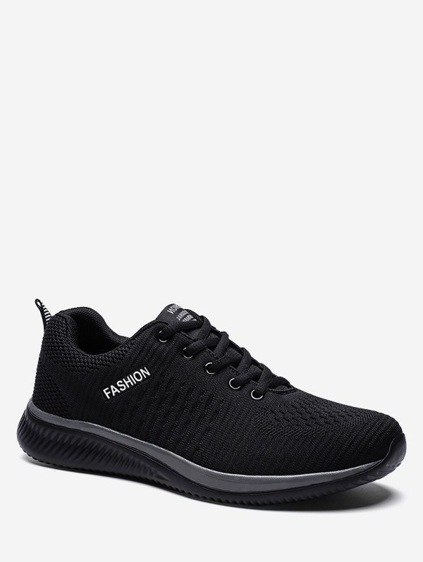 Contrast Casual Knit Sneakers