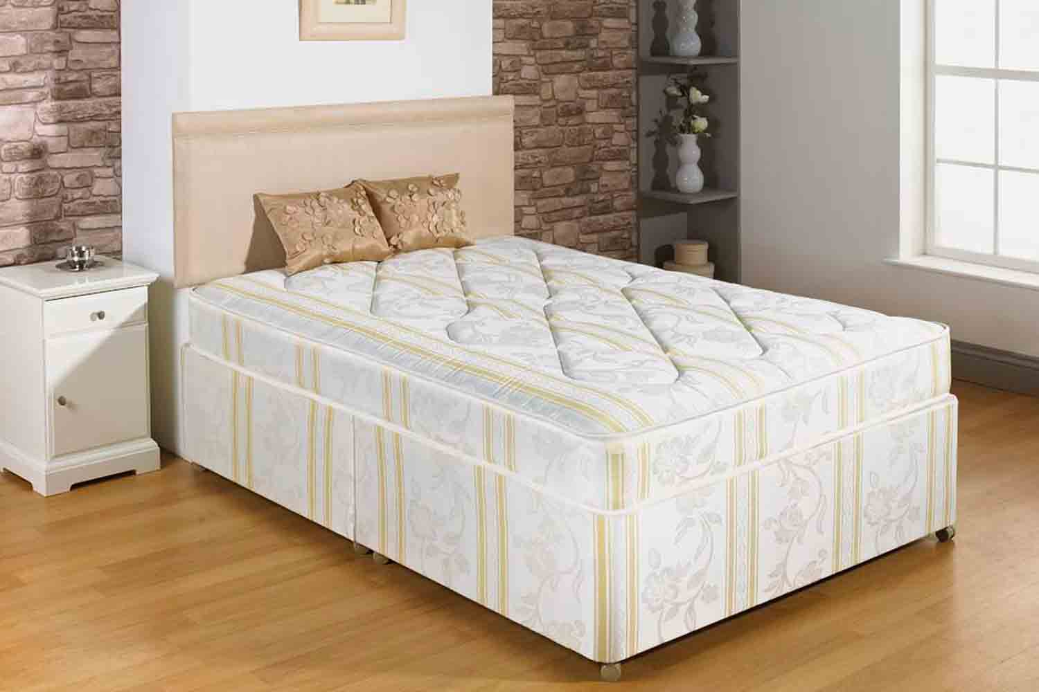 Joseph Waves Gold Stripe Divan Bed-Super King Size-2+2 Drawers