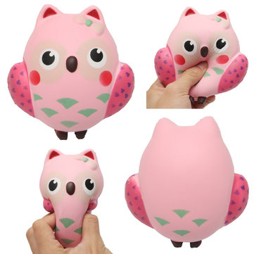 Squishy Owl Slow Rebound Toy Squeeze Slow Rising Soft Animal Pet Collection Gift Decor Toy