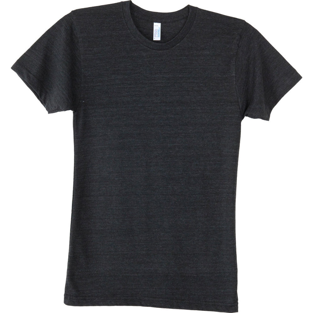 American Apparel Mens Triblend Short Sleeve Durable Track T-Shirt L - Chest 42-44' (106.7-111.8cm)