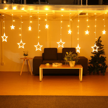 5M 138LEDs Light String Star Curtain Light