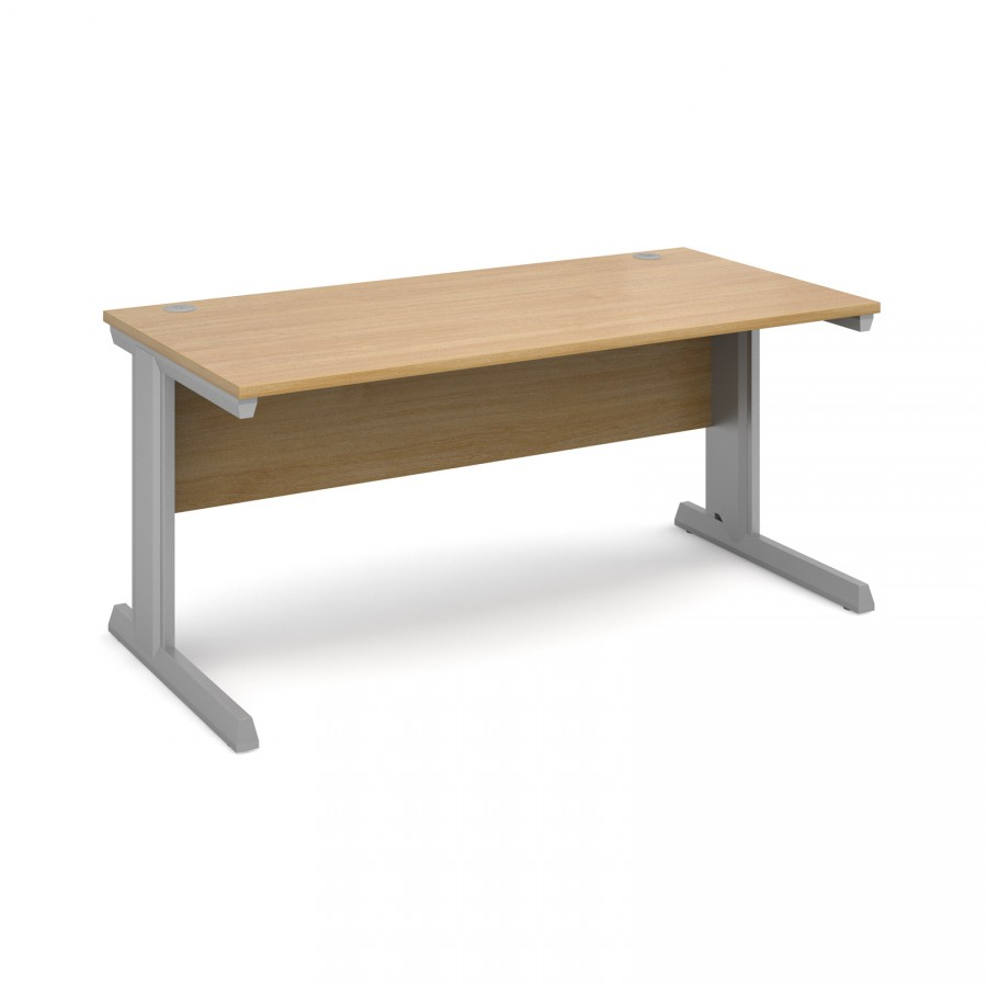 Vivo Straight Office Desk 1600mm- Oak