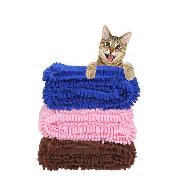 Soft Pet Absorbent Towel Quick Drying Pet Dog Cat Bath Towel