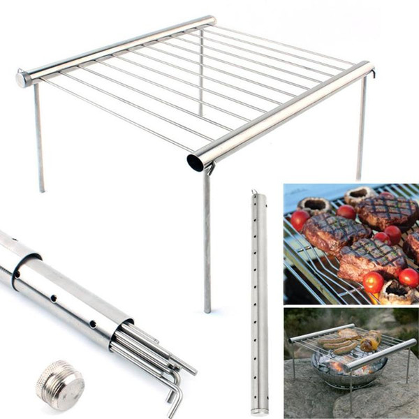 Portable Stainless Steel BBQ Grill Folding Mini Pocket BBQ Grill Barbecue Accessories For Home Park Use