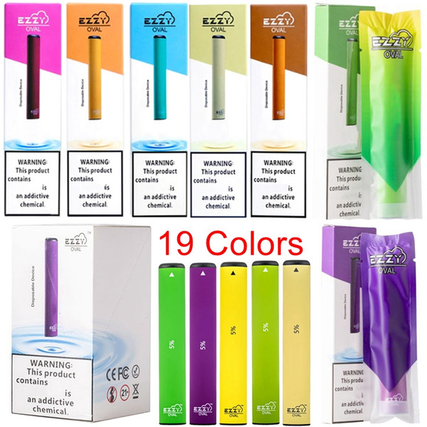 Newest EZZY OVAL Disposable Device Pods Vape Pens 1.3ml Capacity Cartridges 280mAh Battery Ezzy Starter Kits Empty 19 Colors Available