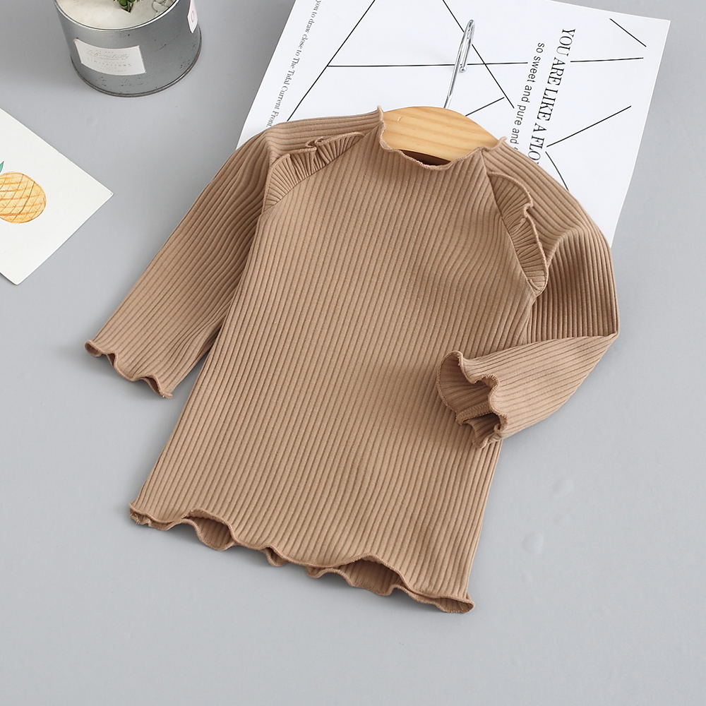 Baby / Toddler Stylish Solid Ruffled Tee