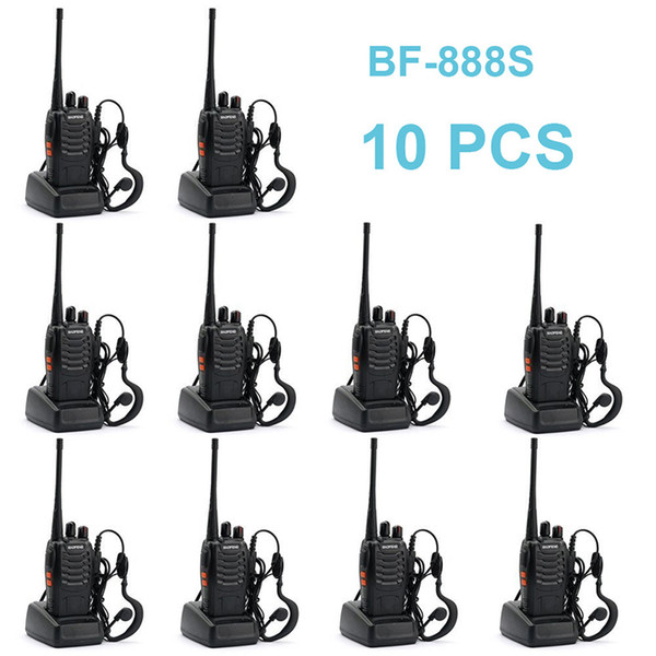 10 pcs baofeng bf-888s walkie talkie 5w handheld two way radio bf 888s uhf 400-470mhz frequency portable cb radio communicator