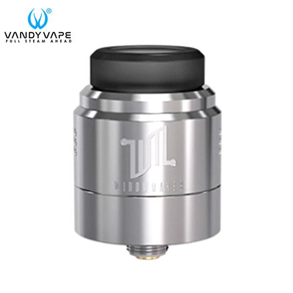 Authentic VandyVape Widowmaker RDA 24mm 1ML Rebuildable Dripping Atomizer - SS Silvery Stainless Steel