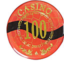100 Gold Blocking Mahjong Chip Suite with Anti-fake Sign Home Toys