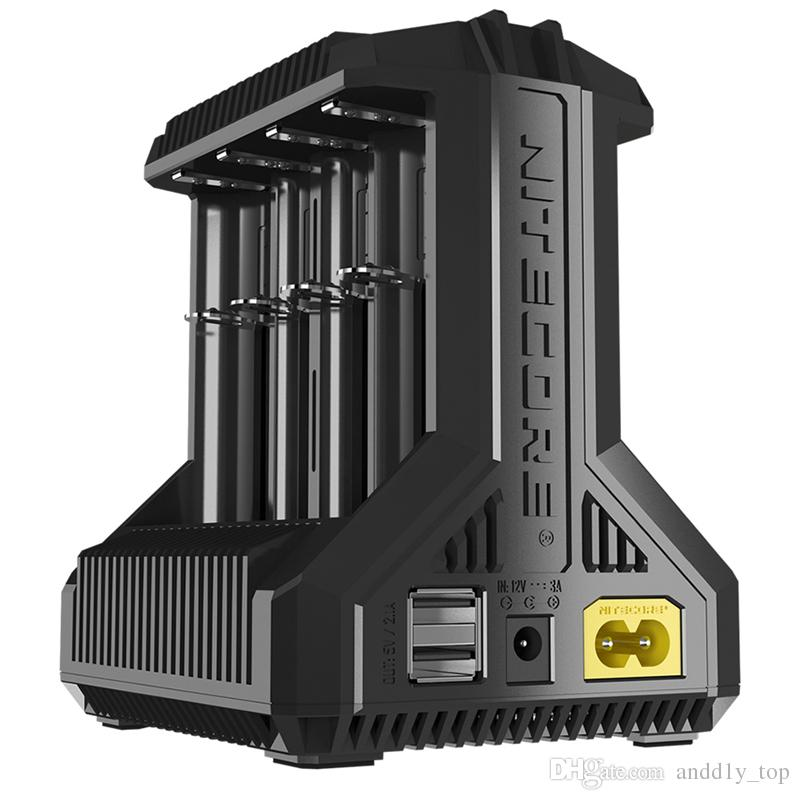 Authentic Nitecore i8 Multi-Slot Intelligent Charger Charge 8 Batteries 18650 26650 USB Output Charging Charges I8 Time Saver 100% Original