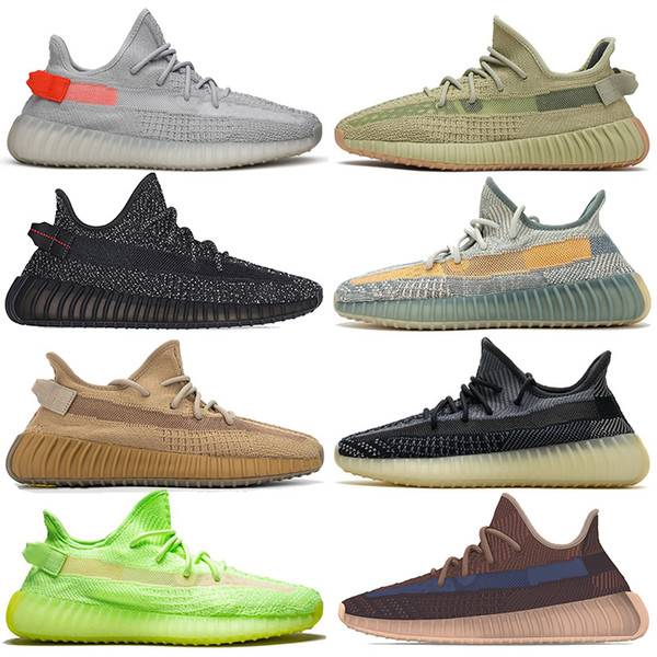 2020 Kanye Shoes Womens Mens Running Shoes Tail Light Sulfur Yecher Cinder Earth Abez Asriel Israfil Eliada Trainers Sneakers size 13