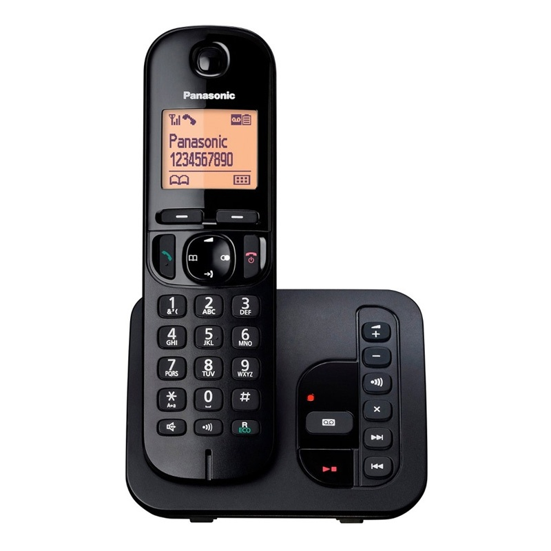 Panasonic Cordless Single DECT Phone with Answer System & Nuisance Call Blocking
