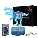 Dinosaur 3D Illusion Lamp for Boy Dinosaur Lamp 16 Colors with Remote Control Smart Touch Night Light Best Christmas Birthday Gift for Boy Girl Kids Age 5 4 3 1 6 2 7 8 9 10 11 Years Old