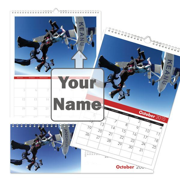 Personalised Xtreme Sports Calendar A5