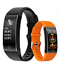 QW18T Unisex Smart Wristbands Android iOS Bluetooth Touch Screen Heart Rate Monitor Blood Pressure Measurement Long Standby Health Care ECGPPG Pedometer Activity Tracker Sleep Tracker Community Share