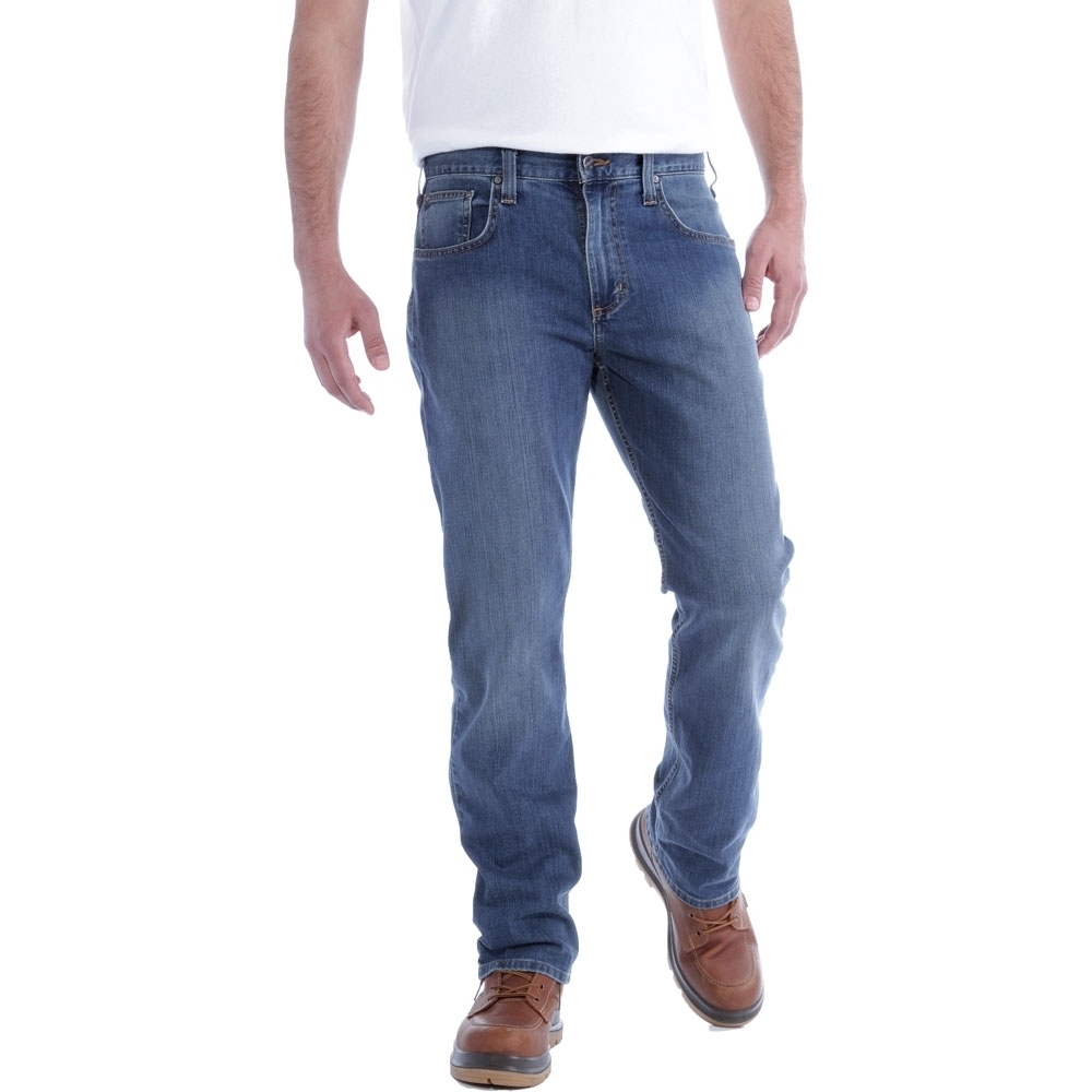 Carhartt Mens Rugged Flex Relaxed Straight Cut Denim Jeans Waist 36' (91cm)  Inside Leg 32' (81cm)