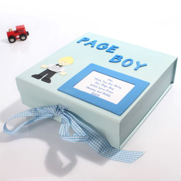 Personalised Page Boy Memory Box