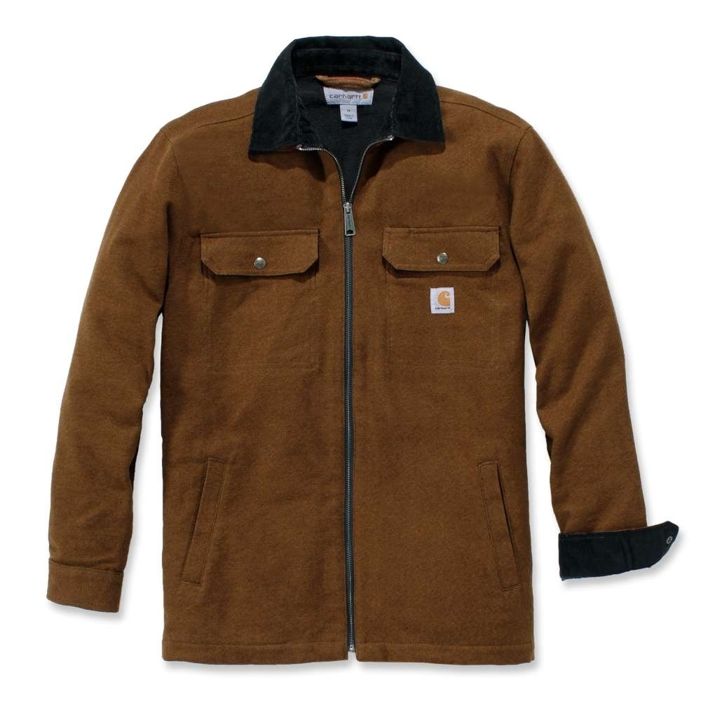 Carhartt Mens Pawnee Zip Cotton Water Repellent Shirt Jacket XXL - Chest 50-52' (127-132cm)