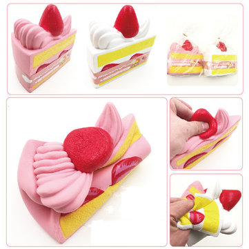 Squishyfun 10cm Strawberry Cake Squishy Super Slow Rising Original Packaging Fun Gift Collection