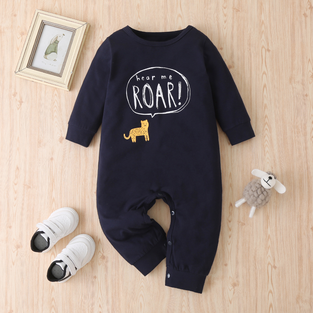 Baby Animal Letter Jumpsuit